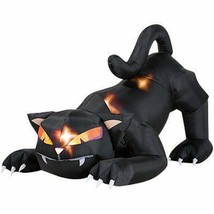 Inflatable Cat Lighted Halloween Decoration 6 ft. L Black Outdoor Yard D... - $104.22