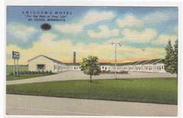 Swiggum's Motel St Cloud Minnesota linen postcard - $5.94