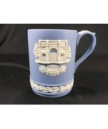 Vintage Wedgwood Blue Jasperware Christmas 1981 Tankard Mug Marble Arch - $24.99
