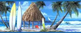 Blue Surfs Up Beach Wallpaper Border York Wallcovering WT1104B - $20.99