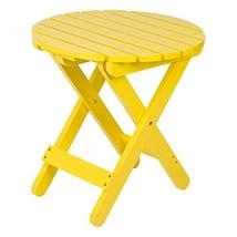 Shine Company 4108LY Adirondack Round Folding Table, Lemon Yellow - $58.85