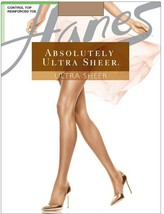 Hanes Absolutely Ultra Sheer Control Top Tights Barely There Size D - NIP - $2.84