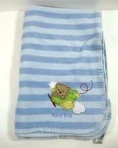 Circo Baby Boy Blanket Blue Stripes Bear Plane Boy   B414 - $172,66 MXN