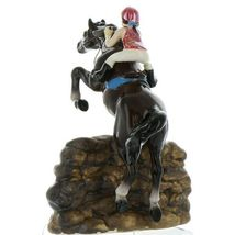 Hagen Renaker Specialty Horse Jumping with Rider Ceramic Figurine image 4