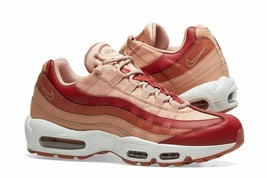 NIKE para DAMA Air Max 95 Zapatos Team Crimson Dusty Melocotón 307960 607 Msrp $ - $129.97