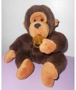 Vtg Jerry Elsner Monkey Gorilla Plush Stuffed Animal Pacifier Sucker Bro... - $22.26