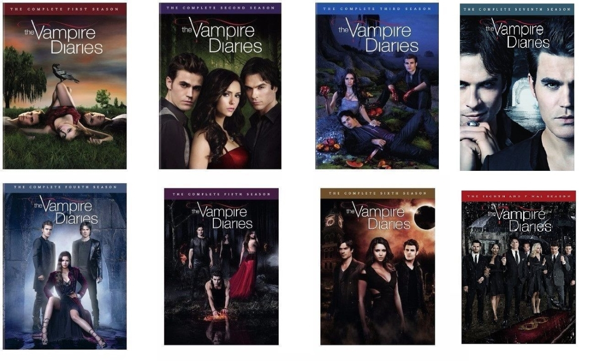The vampire diaries seasons 1 8 complete series dvd set season 1 2 3 4 5 6 7 8