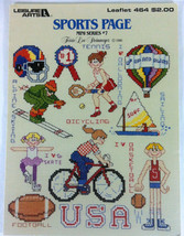 Sports Page Mini Series 7 Cross Stitch Pattern Booklet Leaflet Leisure A... - $4.94