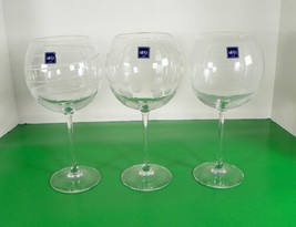 Mikasa Crystal CHEERS Balloon Wine Large Goblet (s) LOT OF 3 Barware - $29.65