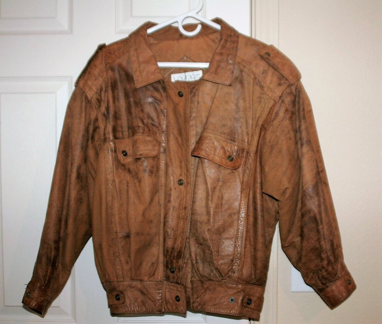 Primary image for Laurice Taffeta Genuine Leather Bomber Type Jacket Men's Size M