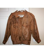 Laurice Taffeta Genuine Leather Bomber Type Jacket Men's Size M - $54.72