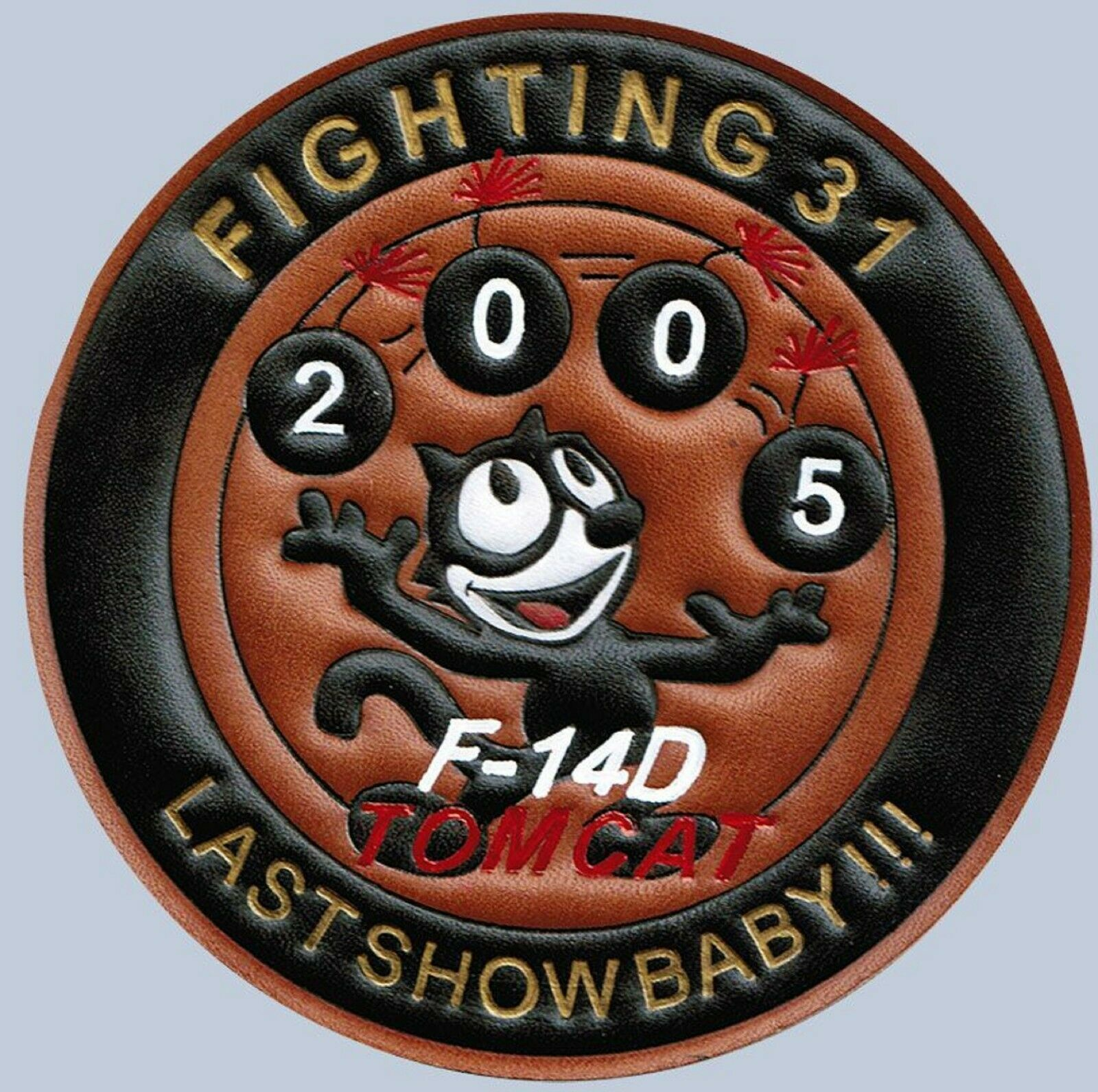 Primary image for USMC VF 31 Last Show Baby !!! F14D Tomcat Patch Sticker
