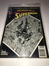 1993 DC FUNERAL FOR A FRIEND THE ADVENTURES OF SUPERMAN 3 #498 - $7.99