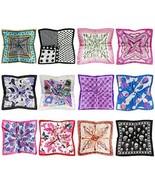 LilMents 12 Mixed Designs Small Square Satin Womens Neck Head Scarf Scar... - $32.91