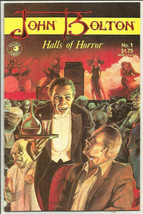 JOHN BOLTON HALLS OF HORROR #1 ECLIPSE COMICS awesome art - $9.90