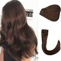 Clip in Human Hair Extensions New Version Thickened Double Weft Brazilia... - $48.73