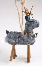 Wondershop 4 count Birchwood Bay Fabric Reindeer Ornament Set NEW w Tags image 6