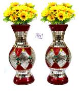 Flower Decoretive Pot Lac Flower Vases Flower Vases Mirror Decoretive Work - $72.01