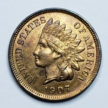 1907 Indian Head Cent Penny Coin Lot 519-102