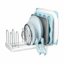 YouCopia StoreMore Adjustable Pan and Lid Rack, Large, White - $41.06
