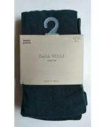 NEW Zara Girls Dark Green Solid Tights 9-10 Years School Designer Dress ... - $13.95