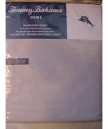 Tommy Bahama Relaxed Cotton Percale Cloud Grey Gray Sheet Set Full - $76.00