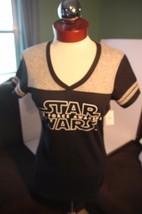 NWT Walt Disney World Star Wars Force Awakens T-Shirt Ladies Medium Black Gray - $46.71