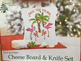 Deck The Palms Cheese Board & Knife Set - $33.35 CAD