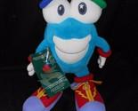 VINTAGE 1996 ATLANTA OLYMPICS MASCOT IZZY WHATIZIT BLUE STUFFED ANIMAL PLUSH TOY