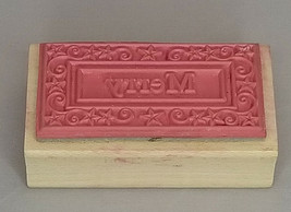 Outlines Rubber Stamp Co. Merry Wood Mounted Rubber Stamp image 2