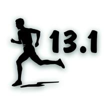 Marathon 13.1 MAN BOY running decal bumper sticker for Olympic mile runn... - $8.83