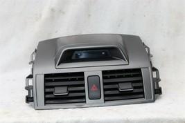 09-11 Toyota Corolla OEM Black Center Dash Top Trim Bezel Air Vents W/ Clock image 2