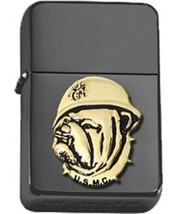 Polished Chrome USMC Bull Dog Black Lighter  - $14.84