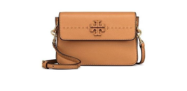Tory Burch McGraw Crossbody Leather Woman Bag Baguette Color - £184.09 GBP