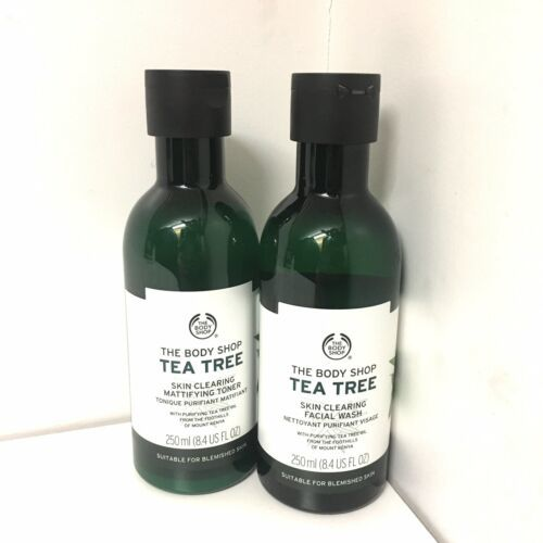 The Body Shop Tea Tree Skin Clearing Mattifying Toner Facial Wash Preowned Lot 2 - $24.74
