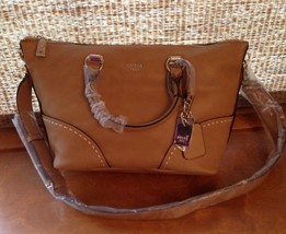 NWT Guess Juliana Satchel Purse Handbag Cognac Brown--V620706 - $89.99