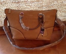 NWT Guess Juliana Satchel Purse Handbag Cognac Brown--V620706 - $79.99