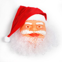 Santa Claus Mask Wig Beard Costume Christmas Party Holiday Supply for Ch... - $36.00