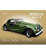 Morgan Plus 8 Metal Sign - $18.95