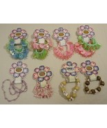 Stretchy Bracelets Hair Accessories Qty 8 Plastic Wood Shell - $17.38