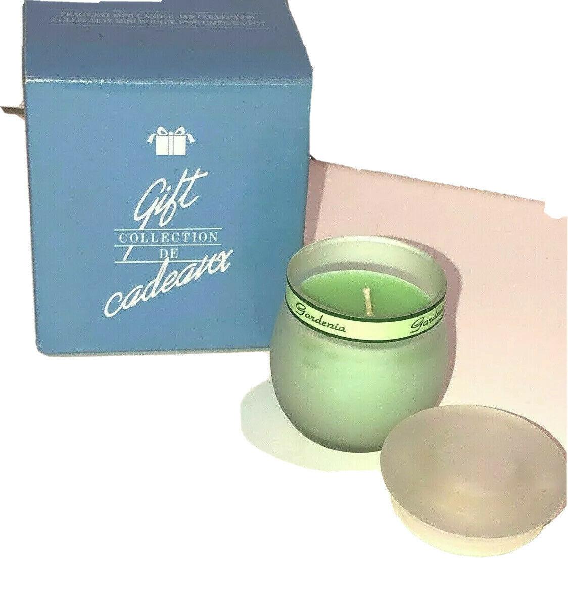 Avon Fragrant Mini Candle Jar Collection Gardenia Green Gift Collection 523081 - $18.80