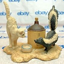 "Lowell Davis ""Country Cousins"" Figurine  1984 Schmid Skunk Cat Jug 225266 - $74.23"