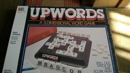 Upwords A 3-Dimensional Word Game Board Game Milton Bradley 1983 - $10.50