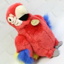 "Colorful Red Blue Yellow Parrot Bird Miyoni Aurora Stuffed Animal Plush 10"" - $15.99"