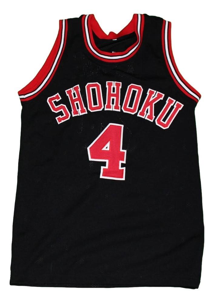 Akagi #4 Shohoku Slam Dunk New Men Basketball Jersey Black Any Size