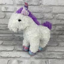 "Melissa & Doug Unicorn Plush Misty White Purple Mane Tail 10""  Stuffed Animal - $9.74"