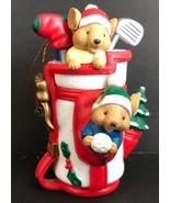 Kirkland Signature Mice In Golf Bag Christmas Collectible Gift Ornament - $12.86