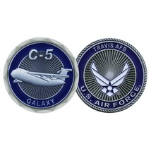 "TRAVIS AIR FORCE BASE GALAXY C-5  1.75"" CHALLENGE COIN - $17.14"