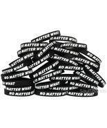 100 No Matter What Wristbands - Motivation Inspiration Recovery Bracelet... - $58.29