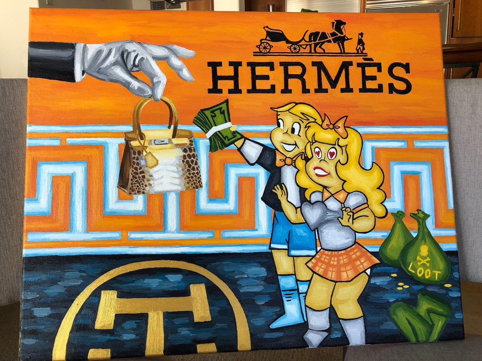 "Primary image for Treasure Paintings JR Bissell: ""The Michael Coste Hermes Painting"" Pirate Gold"